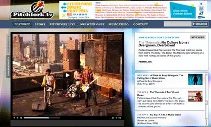 Pitchfork lancerer Pitchfork.tv